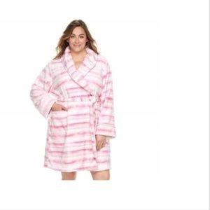 Nautica Accessories - Nautica Women's short cozy knit robe PINK